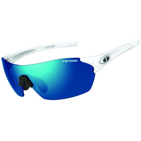 Tifosi Launch SF Cykelbriller, matte white - clarion blue/ac red/clear